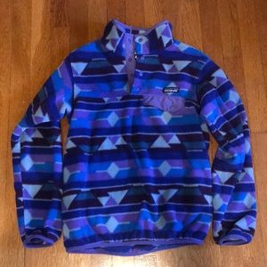 Rare patterned Patagonia fleece pullover